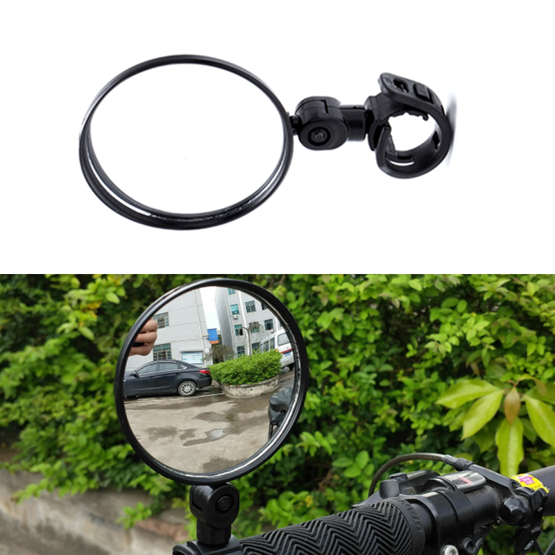 1pc Cycling Bike Bicycle Handlebar Flexible Safe Rear View Rearview Mirror