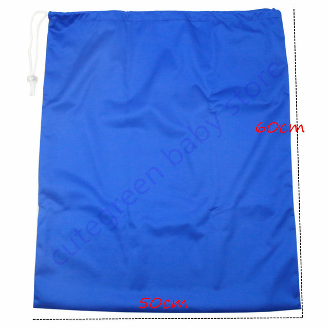 50*60cm hot sports beach bags draw string bag waterproof travel wet bag single pocket pail liner bags for cloth diapers nappy | Happy Baby Mama