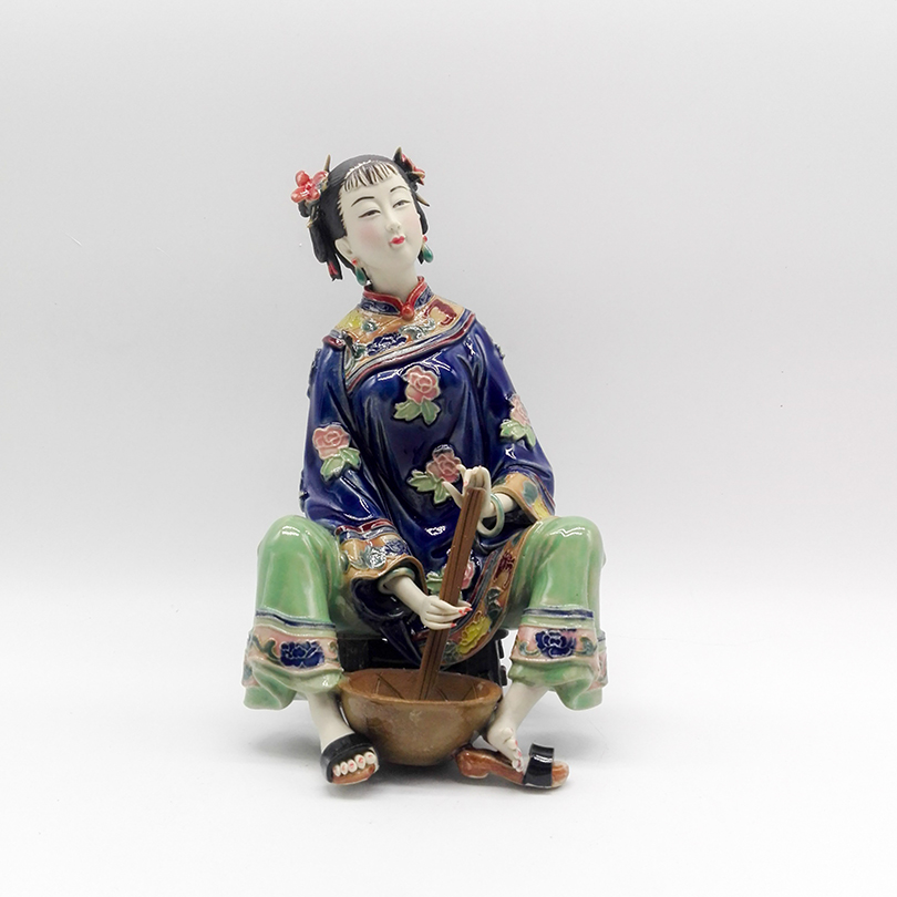 Sculptures Traditional Chinese Dolls Female Statues Collectibles Antique Glazed Figurine Christmas Gift Ceramic lady Figure ArtsSculptures Traditional Chinese Dolls Female Statues Collectibles Antique Glazed Figurine Christmas Gift Ceramic lady Figure Arts