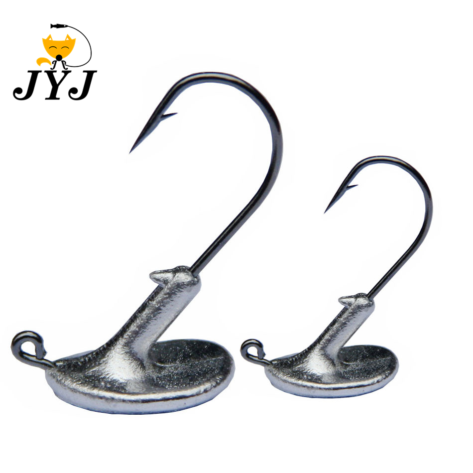 10PCS/Lot 3.5g 5g 7g 10g 14g Tumbler Head Hook Jig Bait Fishing Hook For Soft Lure Fishing Tackle fishing tackle accessorie