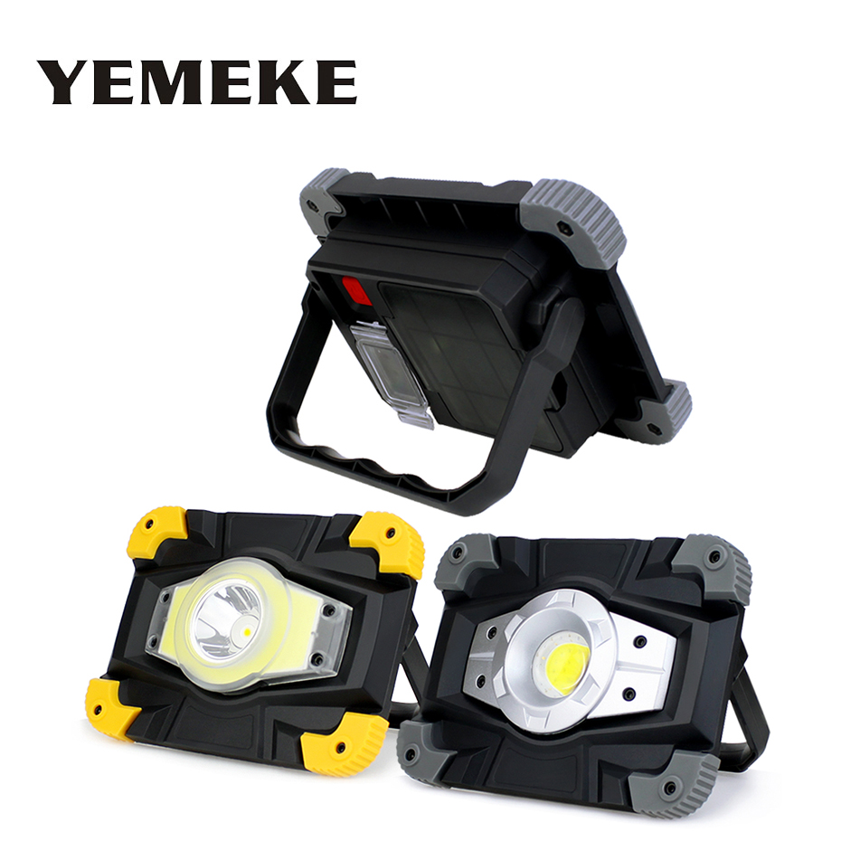 20W Led Portable Spotlight Led Work Light Rechargeable 18650 Battery Outdoor FloodLight Lantern Searchlight For Hunting Fishing