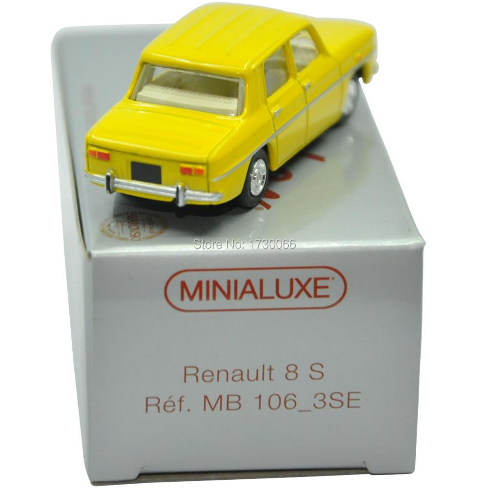 1 66 Scale MINIALUXE Renault 8 Gordini Ref MB 106 SE Diecast Model Car Toys For
