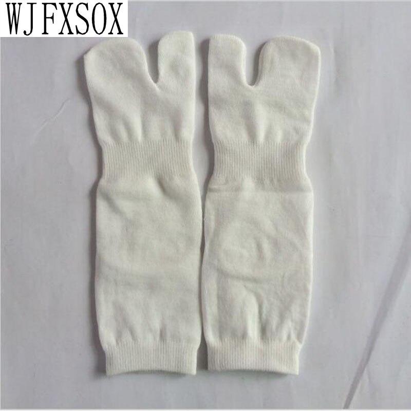 1 Pairs Japanese Men And Women Summer Two Finger Socks Black Kimono Flip Flop Sandal Split Ninjia White Tabi Toe Socks