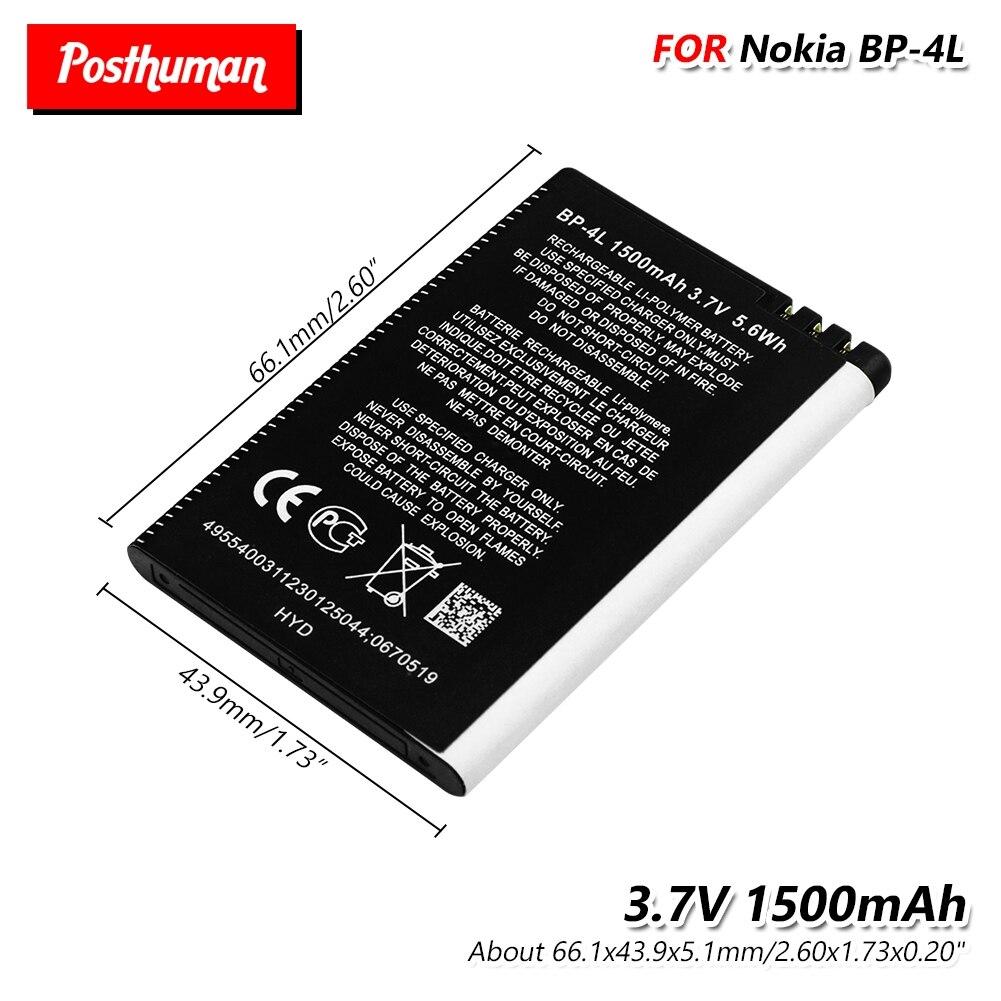 Lithium Li-Po Smart Phone 3.7V 1500mAh Battery BP-4L BP 4L For Nokia E61i E55 E95 N810 N97 E6 E63 E71 E72 E73 E90 E95