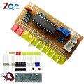 Забавный 10 Светодиодный индикатор уровня звука LM3915  набор для самостоятельной сборки  электронный анализатор звукового спектра  индикатор ...