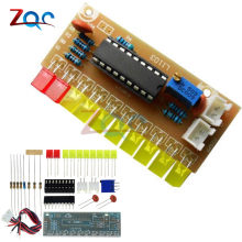 Funny 10 LED Audio Level Indicator LM3915 DIY Kit Electronic Sound Audio Spectrum Analyzer Level Indicator Suite Module(China)