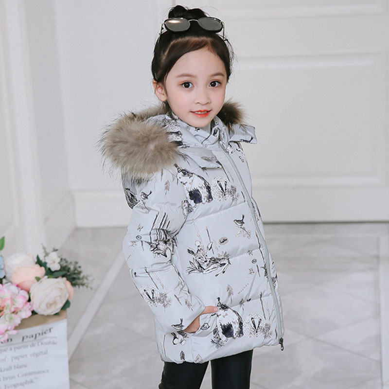 2018 Winter Down Jacket Parka For Girls Coat Children Clothing For Snow Wear Hooded Fashion Kids Outerwear Coats 4 5 6 7 8 Years 5 14 years winter jacket for girls fashion children hooded down cotton girls parka kids winter outerwear coat girls warm clothes