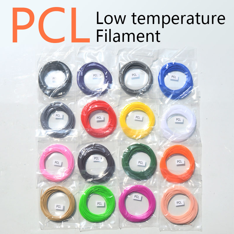 No smell,No pollution PCL 1.75mm 3d pen filament 15 colors,Low temperature 3d pen plastic,3d printing filament pcl abs pla 1.75