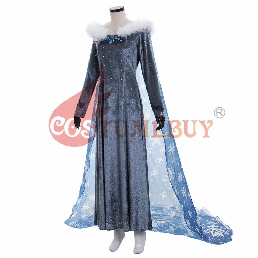 Costumebuy Olaf's Adventure Princess Elsa Dress Anna Snow Queen Cosplay Adult Women Girl Costume Halloween Carnival Costume