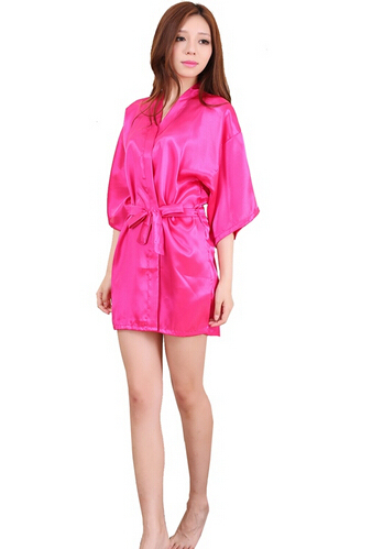 Short Satin Touch Night Gown  6