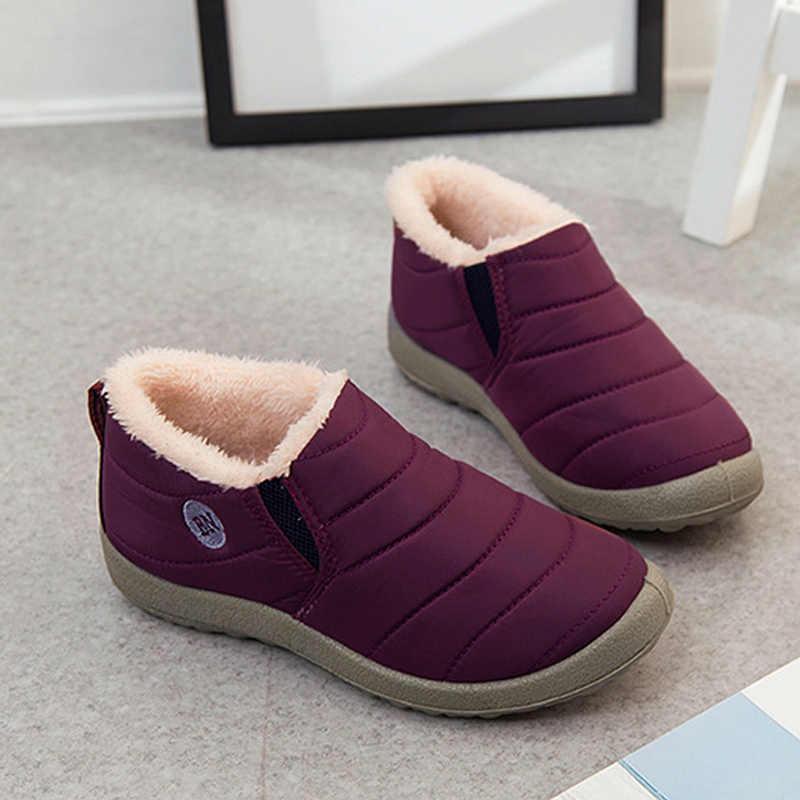2018 Kış kadın kar botları düz sıcak kürk çizmeler kadın kayma su geçirmez unisex lastik çizmeler peluş erkek kışlık ayakkabı WSH3139