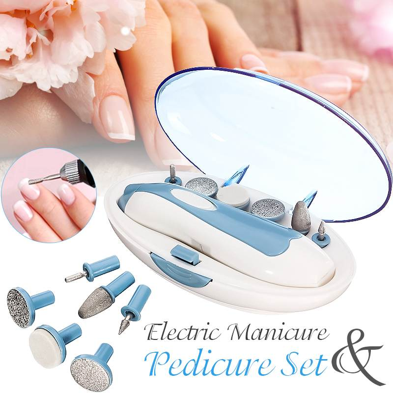 Electric Manicure Pedicure Grooming Set Nail Art File Drill Tool Pedicure Machine Kit For Filing Shaping Sculpting Polishing