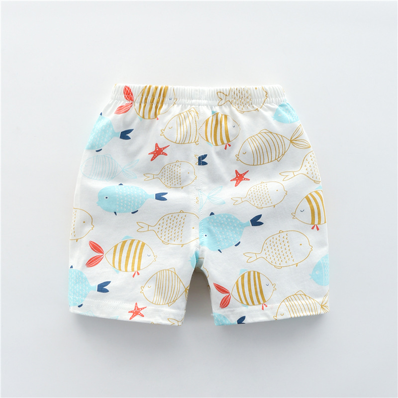 Baby Boy Sommer Neue Baumwolle Shorts Farbige Fisch Baby Mädchen Bequeme Kleidung Shorts GüNstigster Preis Von Unserer Website