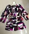 2016 Новая Мода Женщины Подлинная Норки Пальто Природный Норки Куртки Зимние Красочные Длинные Теплые Шубу