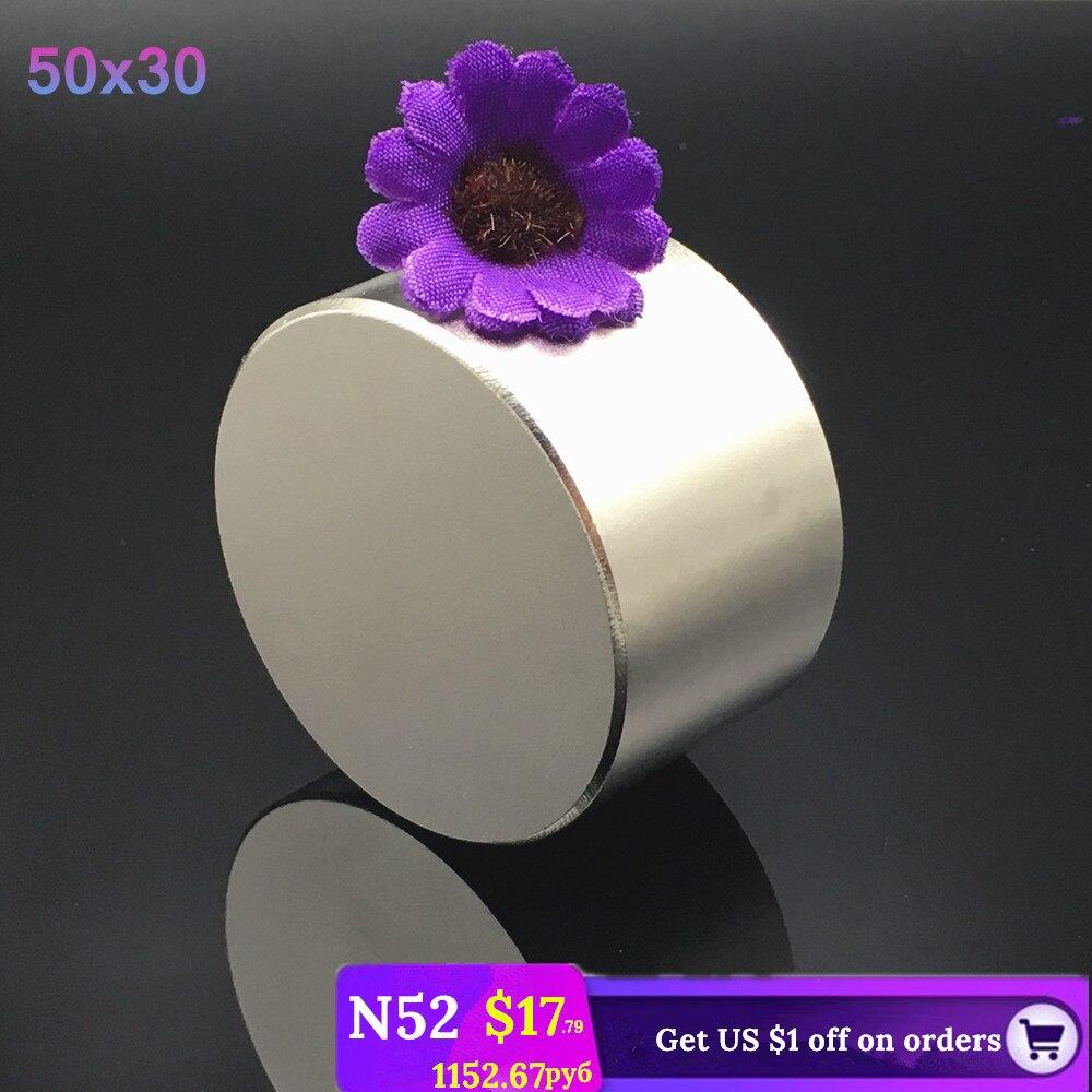 1 stücke N52 Neodym magnet 50x30 Super starke runde suche magnet neodym permanent leistungsstarke angeln magneten 50*30 Rare Earth