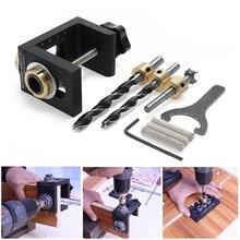 Wood Dowel Drilling Woodworking Pocket Hole Jig Kit Step Dowelling Locate Carpentry  Locator Tool