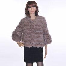 Fashion rabbit fur knitted fur wool fur coat