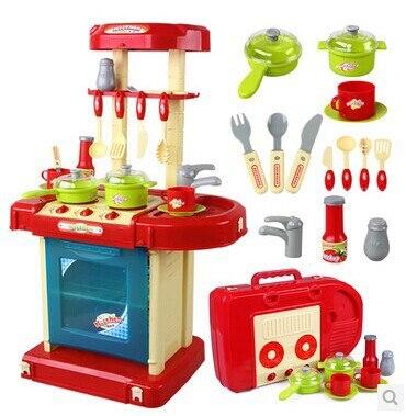 Girls Kitchen Toys Set Kid Kitchenware Cooking Baby Girl Kitchen Accessories Set Pretend Play Tool Toy