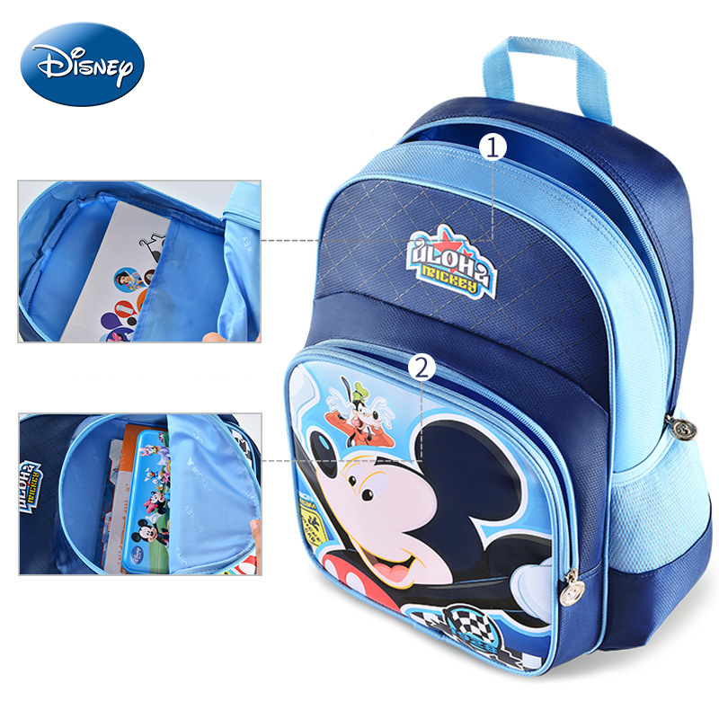 Disney Brand Mickey Classic Pattern Student Back Pack Kids Bag Children 39 s Backpack Schoolbag For Boys Girls Bagpack Grade 1 6 in Backpacks from Luggage amp Bags