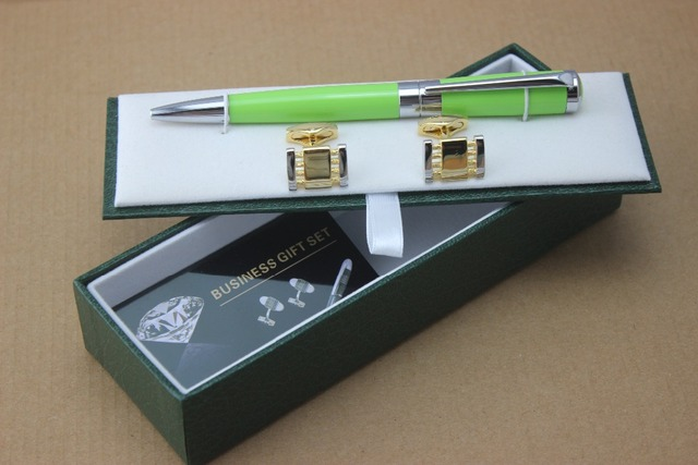 unique design mon barrel luxury Ballpoint Pen school office stationery supplies executive and Cufflinks free shipping