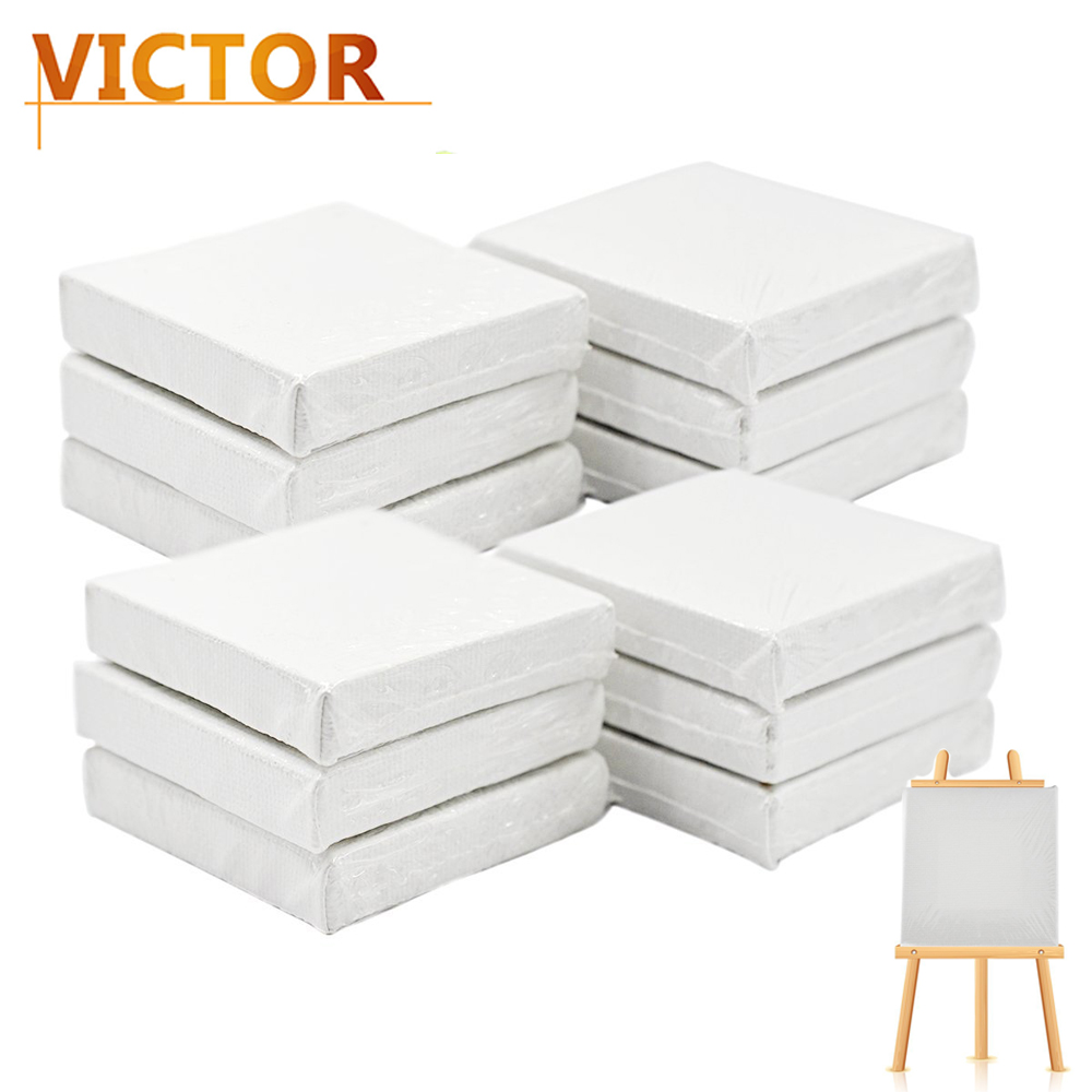 12pcs mini canvas art drawing board blank canvas painting for What is canvas board