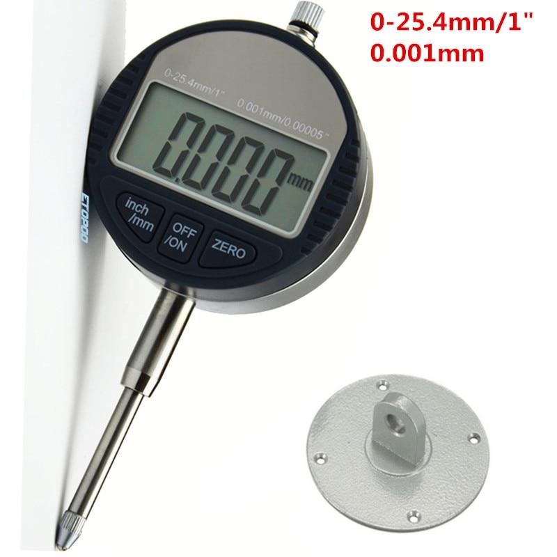 """4 размера цифровой индикатор 0-12,7 мм/0-25,4 мм 0,001 мм 0,0000"""" Электронный микрометр микрометрический/дюймовый индикатор - Цвет: 0-25.4x0.001mm"""