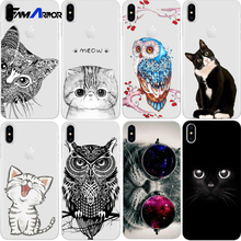 Caixa do Telefone Do gato Para o iphone X 8 4 4S 5 5S SE 5C 6 6 S 7 e Silício para Xiaomi Nota Redmi 4 4A 3 S 3 S 3 4 5A Pro Prime Mi A1 5X 4X