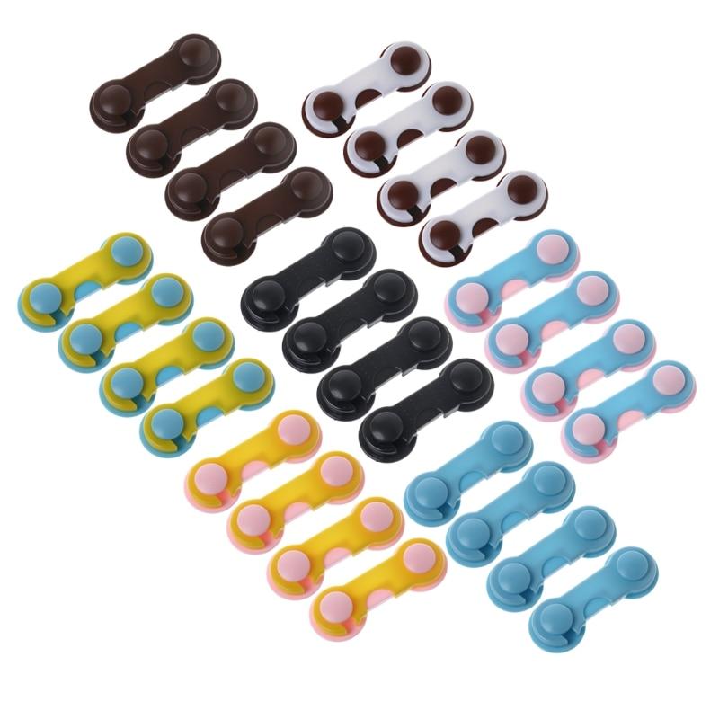 4Pcs Doors Drawers Wardrobe Toddler Baby Children Protection Safety Plastic Lock   Drop Shipping