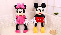 One Pair About 45cm Mickey And Minnie Plush Toy Loves Mice Soft Doll Throw Pillow Birthday