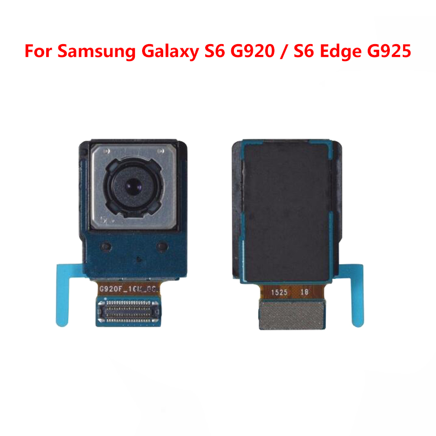 High Quality Replacement Back <font><b>Camera</b></font> For <font><b>Samsung</b></font> Galaxy <font><b>S6</b></font> edge G925F Rear Main <font><b>Camera</b></font> <font><b>Modules</b></font> Flex Cable For <font><b>Samsung</b></font> S6edge image