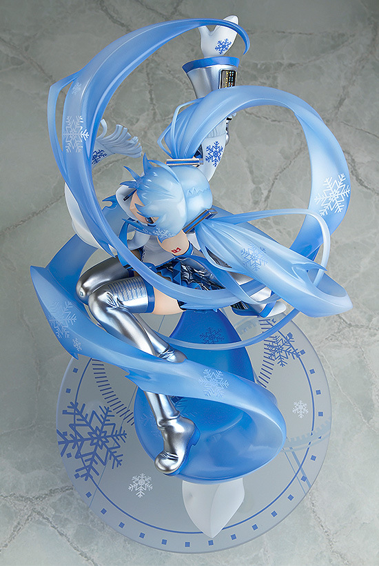 First Snow Miku Scale Figure Hatsune Miku Snow Miku 15th Anniversary 1 7 Scale PVC Figure Collectible Model Toy 24 5cm in Action Toy Figures from Toys Hobbies