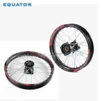 black 12mm 15mm Front 1.60x17 inch Rear 1.60x17 inch aluminium Alloy Wheel Rim For 160cc 150CC Dirt Pit bike 17 inch wheel