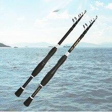 Ultralight carbon spinning hengel korte telescopische hengel boot rock stok pesca pole voor bas karper zeevis