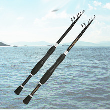 Ultralight karbon iplik olta kısa teleskopik çubuk tekne kaya sopa pesca kutup için bas sazan seafishing