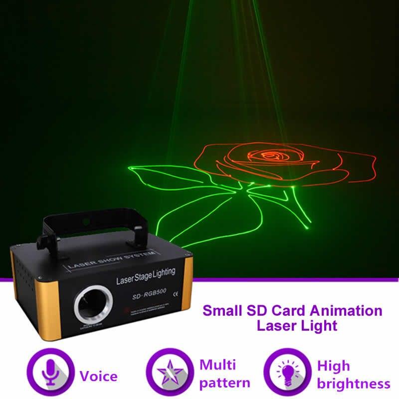 Sharelife мини 500 mw анимация RGB SD карты лазерный проектор DMX Освещение сцены DJ Gig вечерние Home Show эффект стены SD RGB500