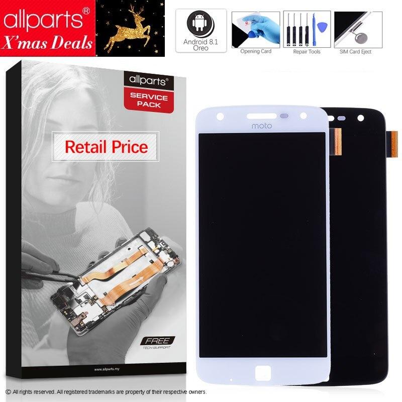 5.5'' Оригинальный тачскрин дисплей экран для Motorola Moto Z Play сенсорный дисплей Оригинал LCD с тачскрином в рамке замена запчасти Z Play Droid XT1635 Черны ...