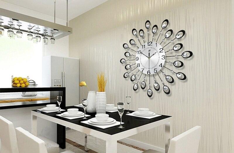 Bien-aimé 3D Grande Horloge Murale Design Moderne Décor À La Maison Salon  TG79