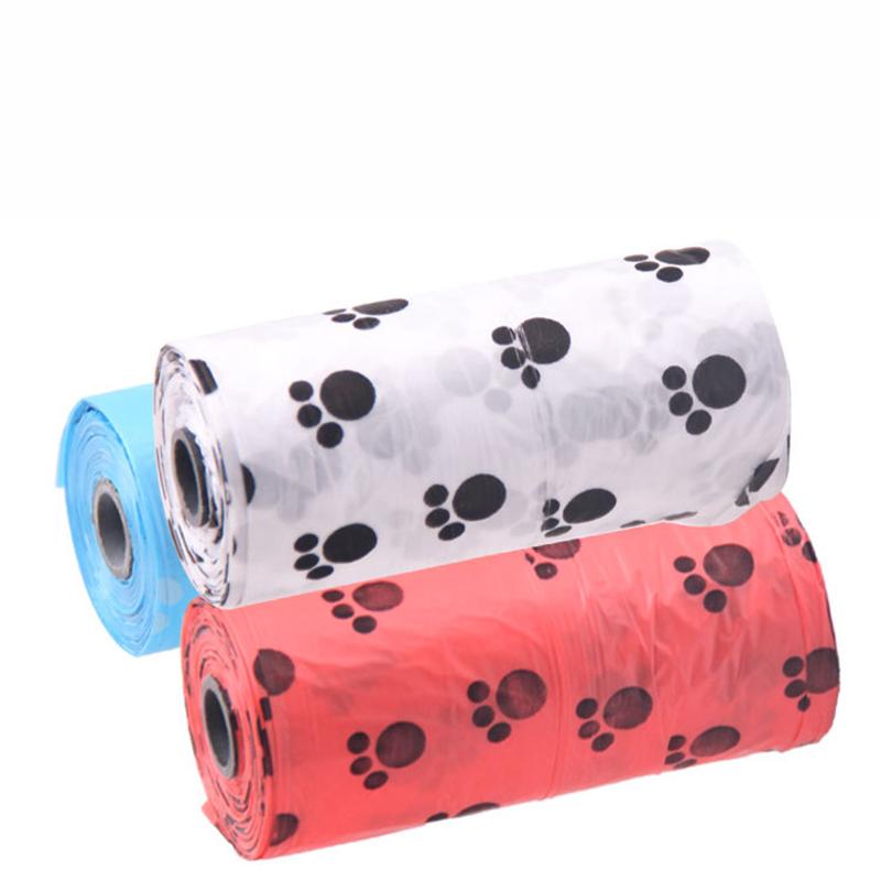 10 Rollos de bolsa impresas para recolección de desechos de mascota 4