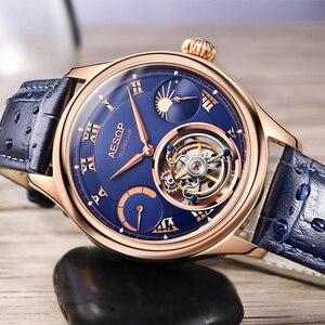 Image 3 - Часы мужские, высококлассные, с застежкой, Tourbillon, многофункциональные, механические, 7001