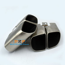 Best Quality the Type of  Wire drawing Stainless steel Square Mouth Car Rear Exhuast Muffler Tail Fit on 14-16 Porsche Panamera