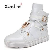 ZENVBNV baile Casual Sneakers Hip Hop zapatos alto Top Casual zapatos  charol hombres zapatillas deportivas hombre d476b51e8d7