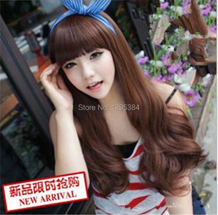 Bag mail Korea fashion wigs long curly hair, women's wig