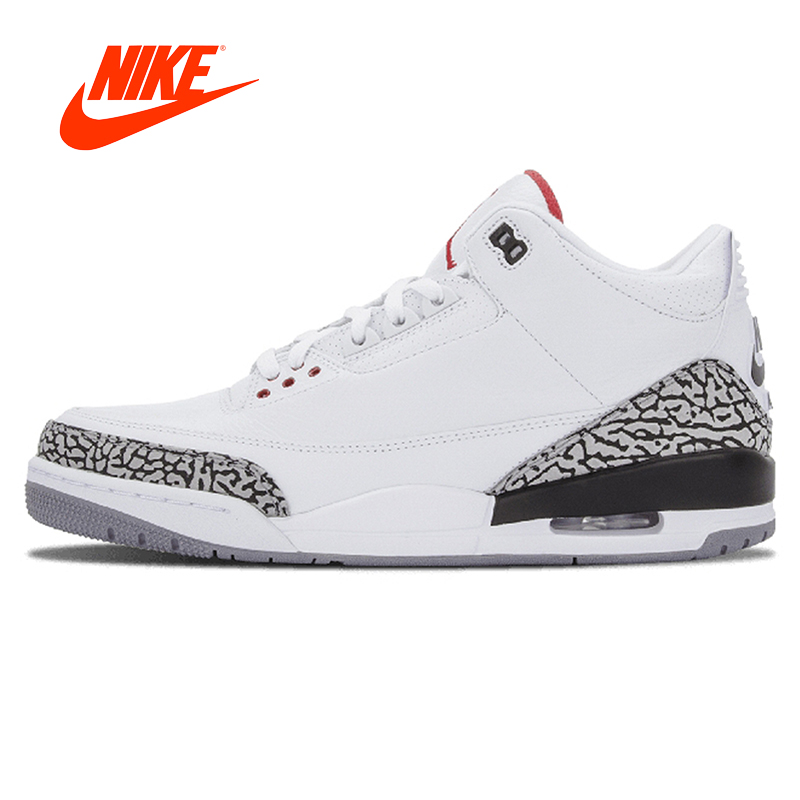 Original Arrival Authentic Nike AIR JORDAN 3 RETRO '88 AJ3 OG Joe 3 White Men's Basketball Shoes Sneakers Sport 580775-160 баскетбольные кроссовки nike air jordan air jordan retro hi og laser aj1 705289 100