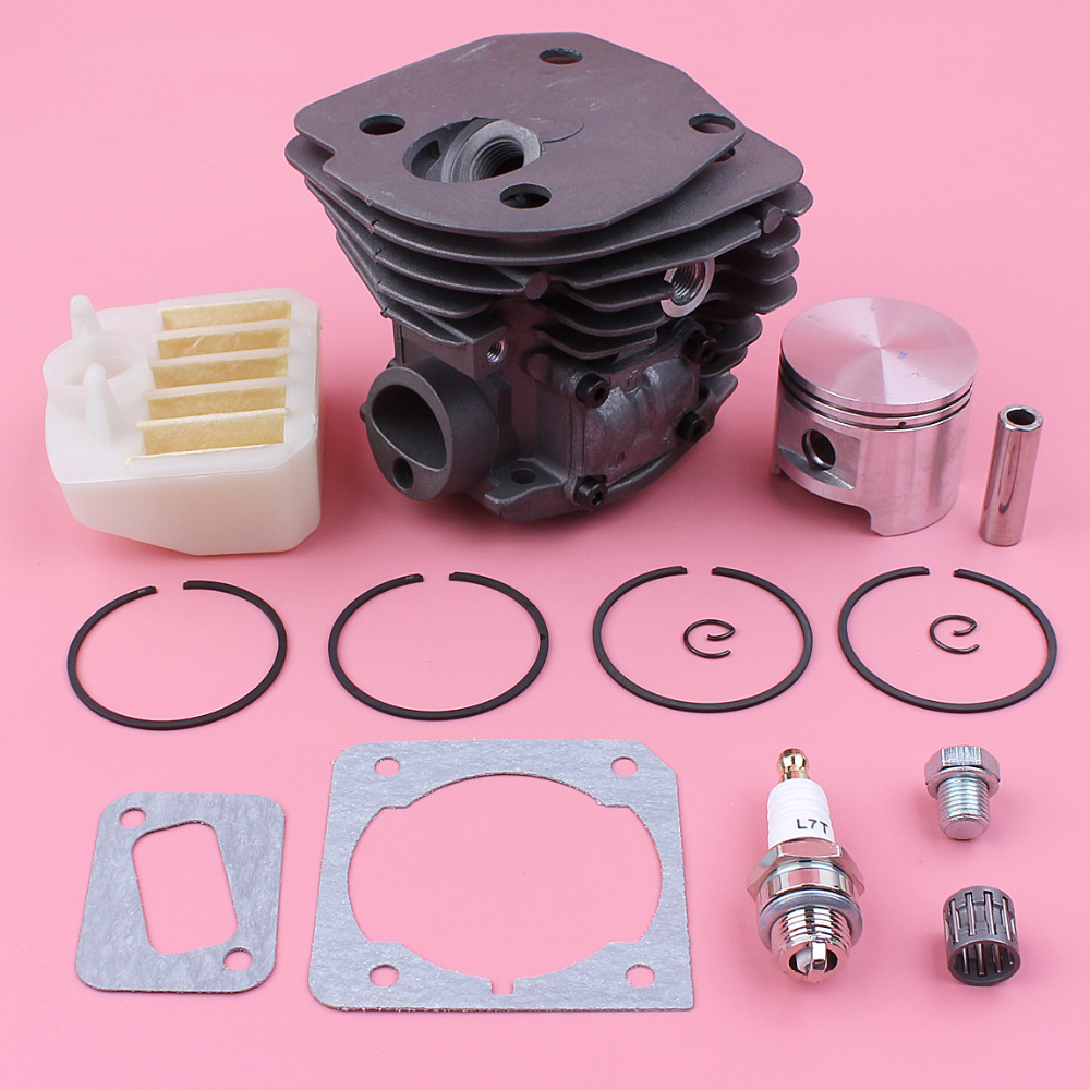 45mm Cylinder Piston Ring Air Filter Plug Gasket Set For Husqvarna 353 351 350 346XP Chainsaw Spare Replace Part