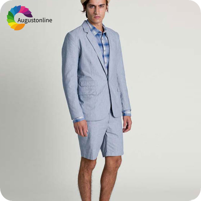 Short Pants Summer Beach Pink Men Suits for Wedding Groom Tuxedo Custom Prom Wear Groomsmen Suits Costume Homme Terno Masculino in Suits from Men 39 s Clothing