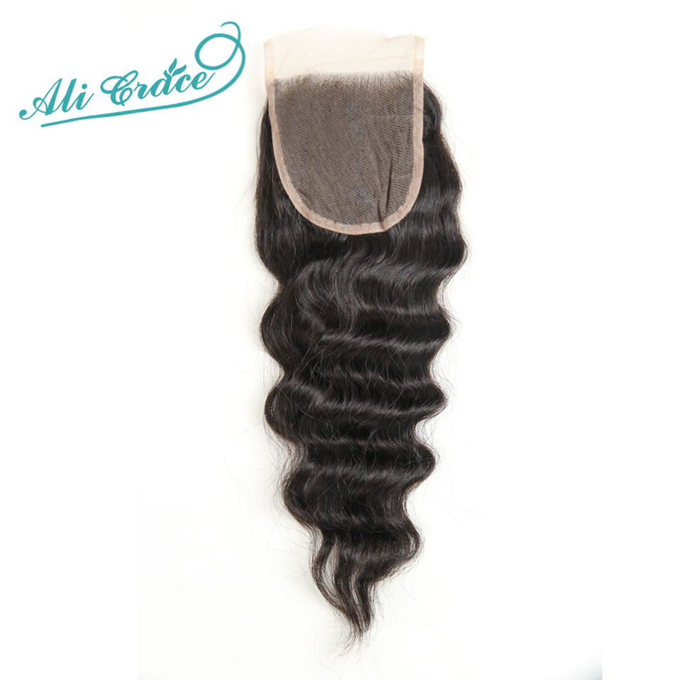 ФОТО Free shipping Brazilian loose wave closure 4*4 Middle/Free Part Lace Closure,Ali Grace Hair Brazilian Virgin Hair Lace Closure