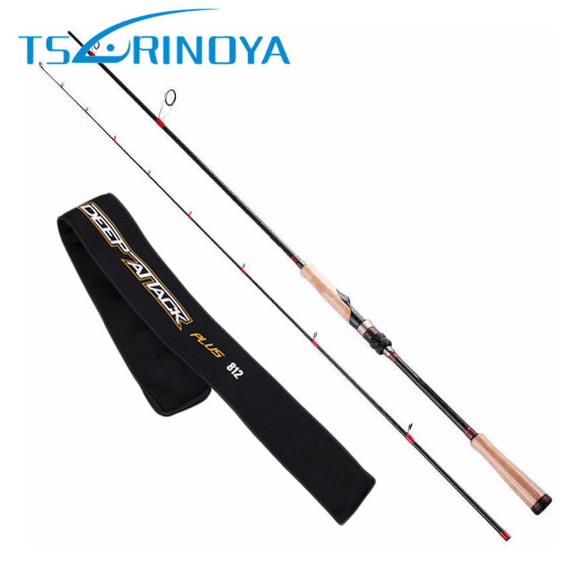 TSURINOYA 2.47m/M/7-25g/0.8-1.6(PE) Spinning Fishing Rod 2Sec 3A Cork Handle Spinning Rods FUJI Accessories Pesca Stick Cane