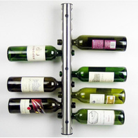 High quality stainless steel wine rack holders 8 12 holes home bar wall wine bottle display stand rack bar Accessories.