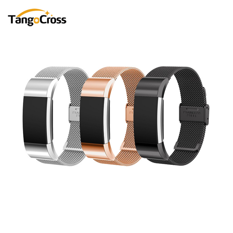 Milanese Loop for Fitbit Charge 2 Band Replacement Watch Bracelet Fitbit Charge 2 Correa Stainless Steel Magnetic Metal Strap quality bracelet stainless steel strap 18mm for fitbit charge 2 smart watch metal band with adapter
