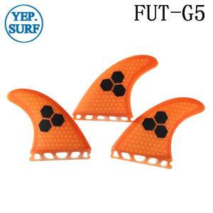 Image 3 - 2020 New Yellow/Blue/Orange/Gray/Green color Future G5 Fin  Fibreglass Fins Surf  Honeycomb Quilhas Paddle Board Surfboard Fins
